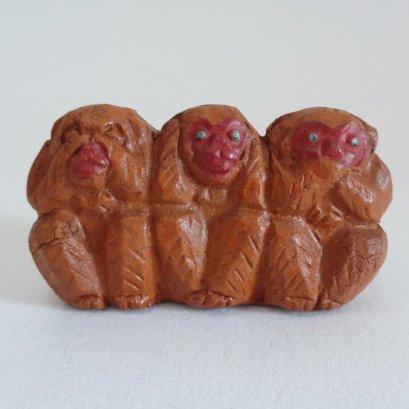 "The Three wise monkeys figurine ,Japanese Three wise monkeys ""see no evil, hear no evil, speak no evil"""