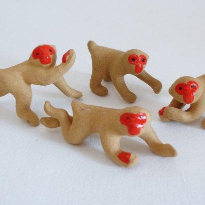 Monkey Miniature Clay figurines lot 4