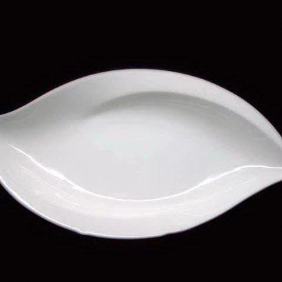 New Leaf Sauce Dish 14.1x7.3 cm - Plain white