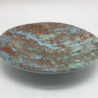 Melamine Wave Round Plate D16x2.5cm-Copper Brush