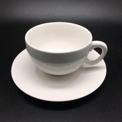 Disc Coffee / Tea Cup D9.3xH5.5cm 200ml & Saucer D14.5cm