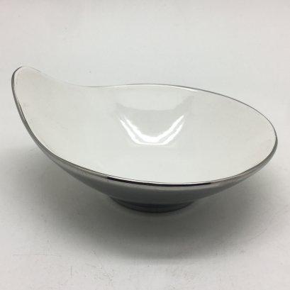 "Mini Lip Dish ""S"" D8xH4cmSilver Outside HPD0190-035Sil"