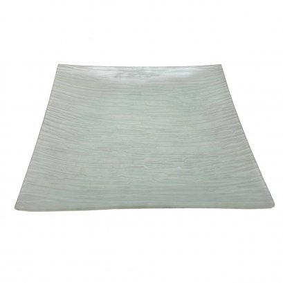 Square Platter  27x27 cm ( tempered )-Clear Wooden Grain