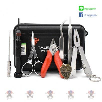 THC Tauren Tool Kit - Pro : อุปกรณ์สำหรับบุหรี่ไฟฟ้าลวด สำลี ไขควง แหนบจัดสำ คีมตัดลวดบุหรี่ไฟฟ้า