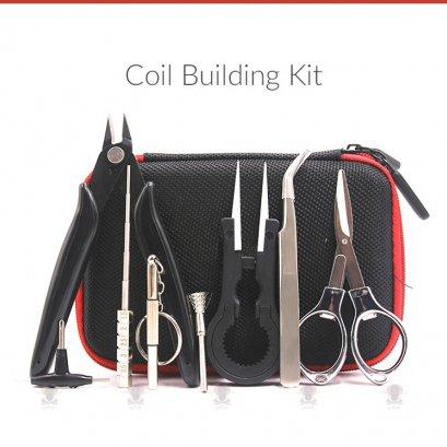 Volcanee X9 Mini Vape กระเป๋า DIY : อุปกรณ์สำหรับบุหรี่ไฟฟ้าลวด สำลี ไขควง แหนบจัดสำ คีมตัดลวดบุหรี่ไฟฟ้า
