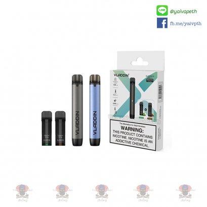 พอต บุหรี่ไฟฟ้า Vladdin X 550mAh (พร้อมพอตยา 2 หัว Menthol+Tobacco) [ แท้ ]
