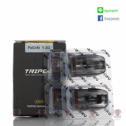 หัว+คอยล์สำเร็จ - Uwell Tripod Pod Cartridge 1.2 Ohm