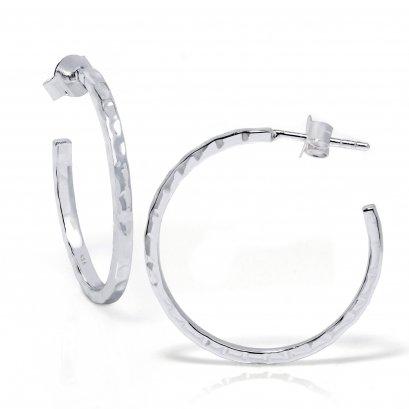 Sterling Silver Half- Hoop Earring