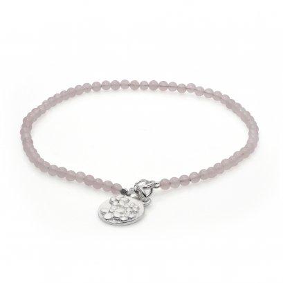 Sterling Silver Rose Quartz Anklet
