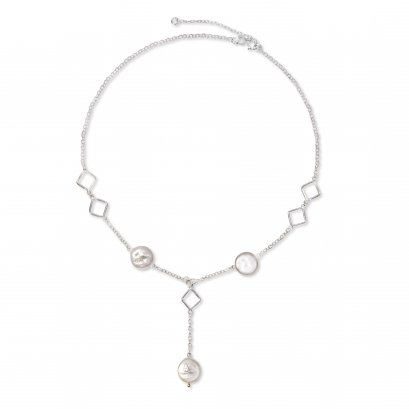 Sterling Silver Plated Shell Necklace