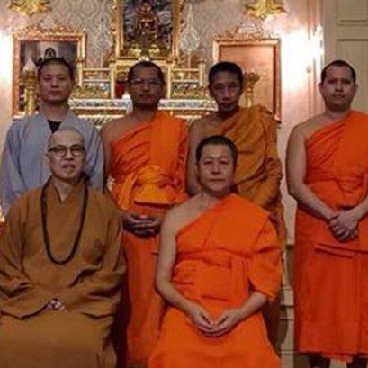 พระธรรมาจารย์หมิงยี่ วัดฟู่ไห่ซาน สิงคโปร์ เข้าพบพระเทพรัตนมุนี รก.เจ้าอาวาสวัดสระเกศ เจ้าคณะภาค12 โดย เจ้าหน้าที่กองวิเทศสัมพันธ์ และวิทยาลัยพระธรรมทูต
