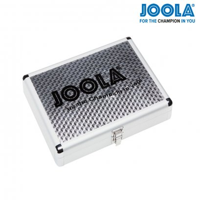 JOOLA ALUMINUM TABLE TENNIS RACKET CASE WITH BALL STORAGE (SILVER)