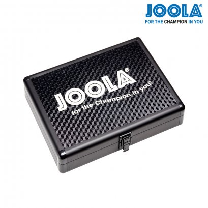 JOOLA ALUMINUM TABLE TENNIS RACKET CASE WITH BALL STORAGE (BLACK)