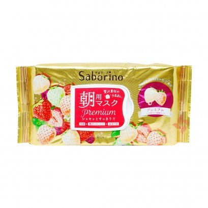 Saborino Morning Facial Sheet Mask Premium White Strawberry 28sheets