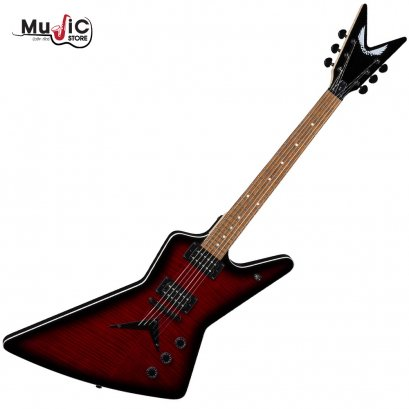 Dean ZX Flame Top Electric Guitar - Trans Red