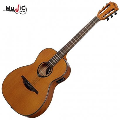 LAG Tramontane TL77PE Parlor Acoustic Electric Guitar ( Left-Handed )