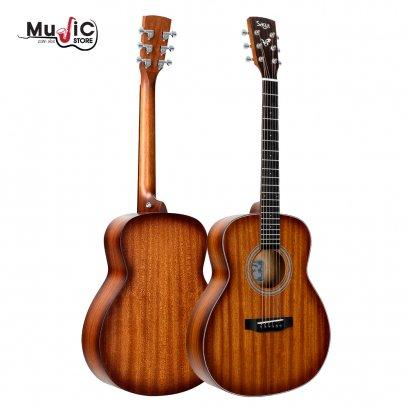 SAGA GS700S ( Solid Top )Acoustic Travel Guitar