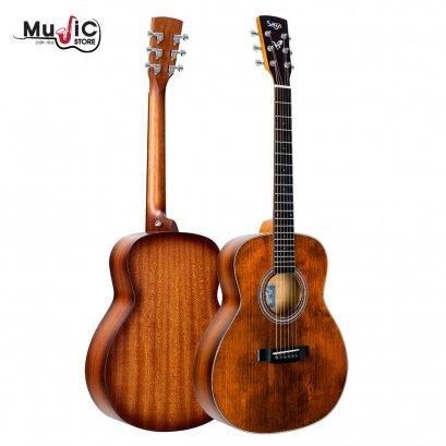 "SAGA GS700R Acoustic Travel Guitar ( Solid Top ) 38"""