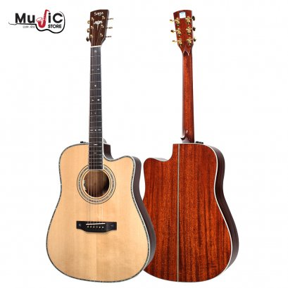 SAGA SL55CE Acoustic Electric Guitar ( All Solid )