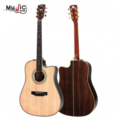 SAGA SL65CE Acoustic Electric Guitar ( All Solid )