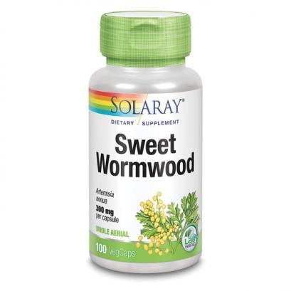 Solaray Sweet Wormwood Aerial, Veg Cap (Btl-Plastic) 300mg 100ct