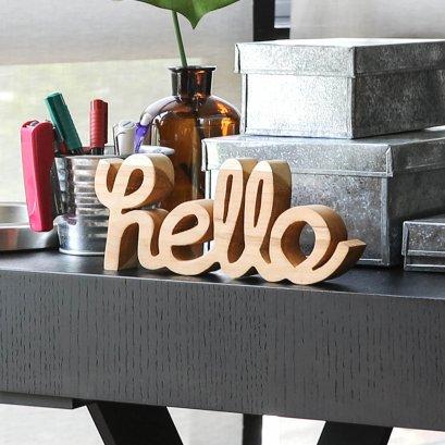 ตัวอักษรไม้ Hello   Wooden Word - Hello