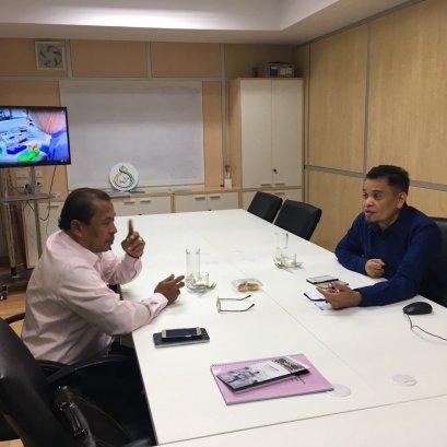 ผอ.บริษัท มาเดียน เอ็นเตอร์ไพรส์ (ประเทศไทย)เข้าพบ รอง ผอ.สถาบันฯเพื่อปรึกษาหารือเกี่ยวกับฮาลาลประเทศไทย
