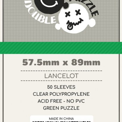 Sleeves 57.5*89 Green Lancelot Double puzzle