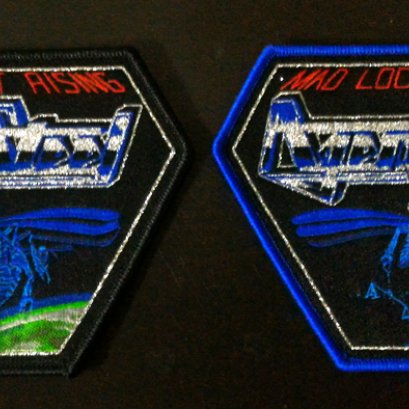 AGENT STEEL'Mad Locust Rising' Woven Patch.(Bootleg)
