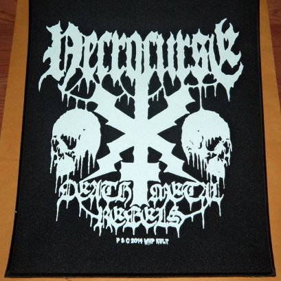 NECROCURSE'Death Metal Rebels' Back Patch.