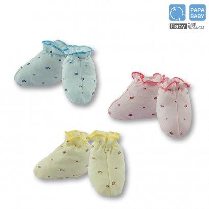 PAPA BABY ถุงเท้าเด็กอ่อนแรกเกิด ถึง 6 เดือน รุ่น R10