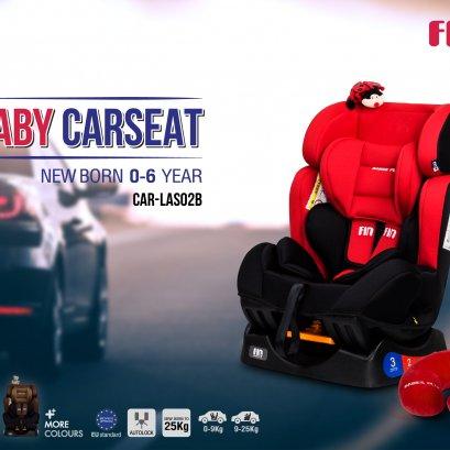 FIN คาร์ซีทเด็กแรกเกิด-6ปี เบาะติดรถยนต์สำหรับเด็ก รองรับน้ำหนัก 0-25 กิโลกรัม ได้รับมาตรฐานระดับยานยนต์ระดับ E13 จากสหภาพยุโรป แถมฟรี !! หมอนรองคอและตุ๊กตาห้อยน่ารักๆ รุ่น CAR- LSA02