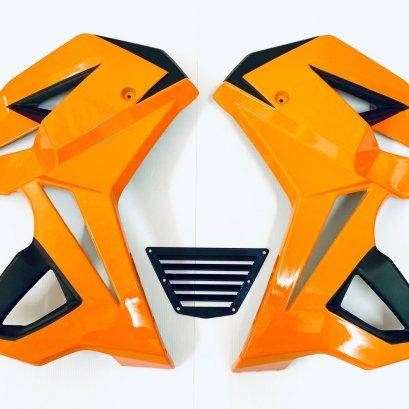 แฟริ่งข้าง รุ่น MSX125SF ทรง V.1 สีส้มนม-ดำ