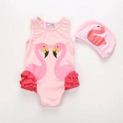 ชุดว่ายน้ำเด็ก Flamingo สีชมพู