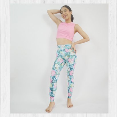 BASIC LEGGINGS - BEACH VIBES / L เท่านั้น