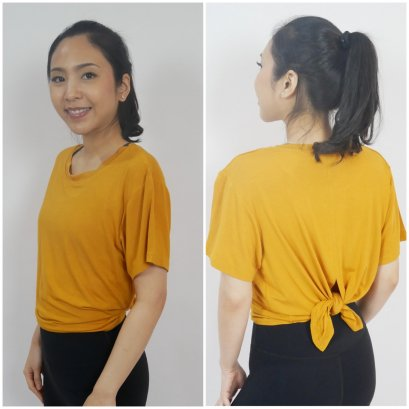BACK SPLIT AND TIED TOP