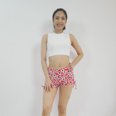 Yoga Shorts - KAMI FLOWER / M ONLY