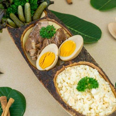 Keto Stewed Pork with Boiled Egg