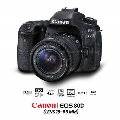 Canon EOS 80D kit 18-55 mm.