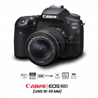 Canon EOS 90D kit 18-55 mm.
