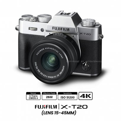 Fujifilm X-T20 kit 15-45 mm.