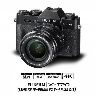 Fujifilm X-T20 kit 18-55 mm.