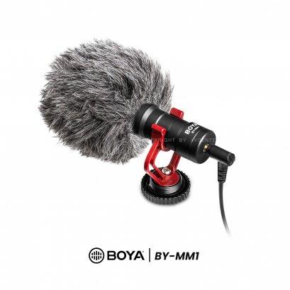 BOYA Microphone BY-MM1  ใช้เป็นไมค์ติดกล้อง, ไมค์โทรศัพท์