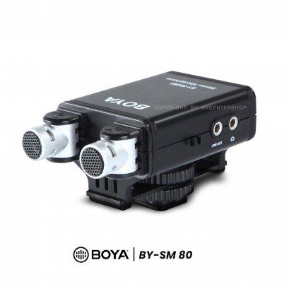 Boya Microphone SM-80  ไมค์ติดหัวกล้อง