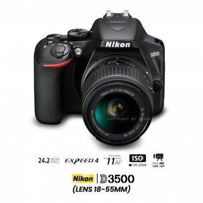 Nikon D3500 kit 18-55 mm.