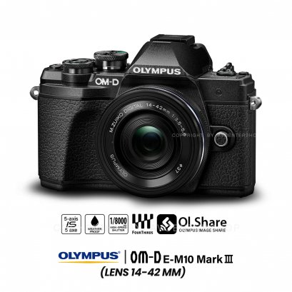 Olympus OMD E-M10 mark3 III kit 14-42 mm.