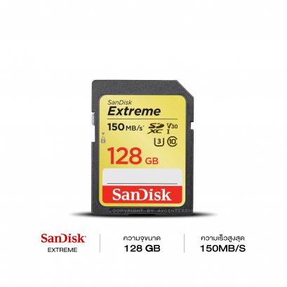 SanDisk Memory SD Card 128 GB Extreme ความเร็ว 150 MB