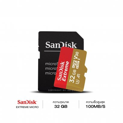 SanDisk Extreme 32GB 100MB/S Micro SDXC Card