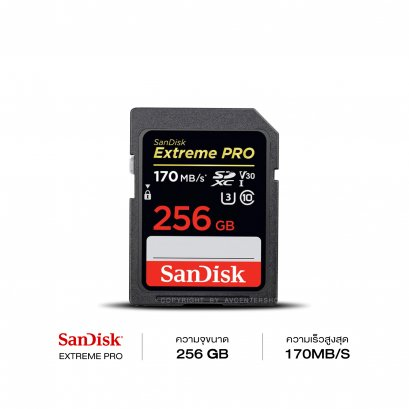 SanDisk Extreme Pro SD Card 256GB Speed 170 MB/S