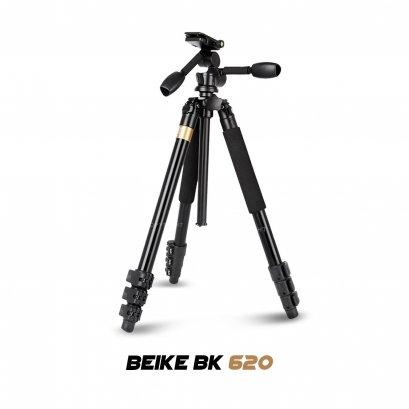 ขาตั้งกล้อง Beike BK - 620 รับน้ำหนักได้ถึง 20 กิโลกรัม